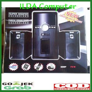Harga speaker gmc 888p super bass bonus usb bluetooth murah meriah   HARGALOKA.COM