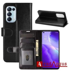 Harga flip oppo reno5 reno 5 4g wallet leather dompet kulit cover case kartu   | HARGALOKA.COM