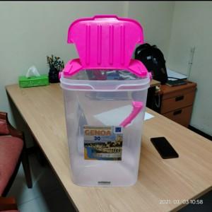 Harga aquarium es kelapa buah toples gayung 30 liter genoa greenleaf | HARGALOKA.COM