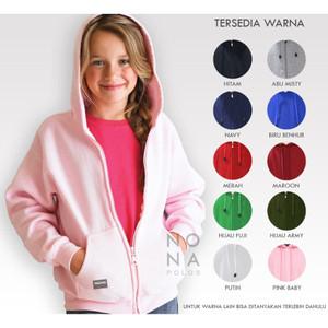 Harga jaket hoodie zipper resleting polosan anak bayi remaja nona polos   putih | HARGALOKA.COM