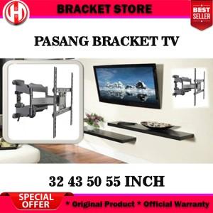 Harga bracket swivel lengan 55 50 43 32 nb p5 inch plus pasang bracket tv   jakarta nb | HARGALOKA.COM