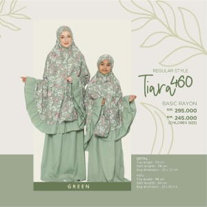 Harga mukena tatuis tiara 460 couple ibu anak rayon pink abu biru hijau adem   dewasa | HARGALOKA.COM