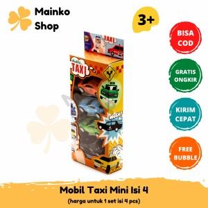 Harga mainan anak diecast taxi mini isi | HARGALOKA.COM