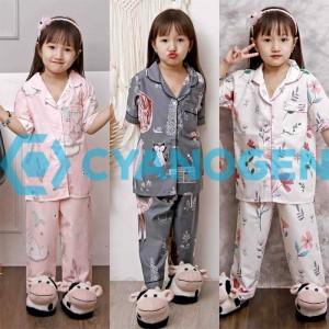 Harga piyama anak baju tidur 1 7 tahun perempuan cewek celana panjang katun   contoh motif xs 1 3 tahun | HARGALOKA.COM