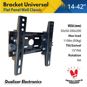 Harga breket bracket braket tv 19 20 21 24 26 32 40 inch lg xiaomi   HARGALOKA.COM