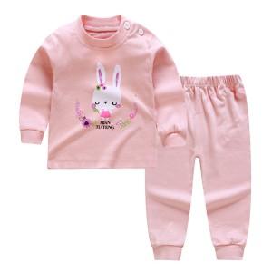 Harga import set piyama bayi lengan panjang anak lucu unisex baju tidur   flower amp rabbit 73 50 3 6 | HARGALOKA.COM