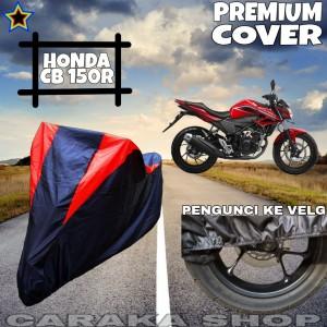 Harga cover motor honda cb150r hitam merah anti air   HARGALOKA.COM