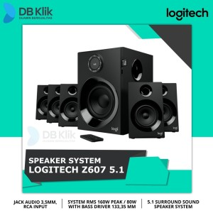 Harga speaker logitech z607 5 1 surround sound speaker system   HARGALOKA.COM