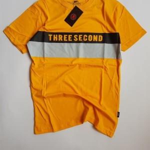 Harga men 39 s t shirt 3second label marron   kuning   HARGALOKA.COM