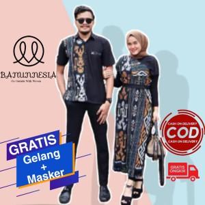 Harga baju set couple tenun pria wanita etnik troso jepara tenun couple   dress tenun | HARGALOKA.COM