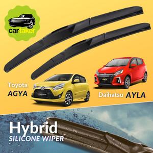 Harga wiper frameless original agya ayla karet kaca mobil silicon | HARGALOKA.COM