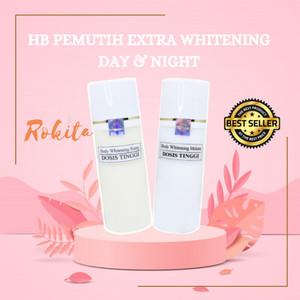Harga original pemutih badan hb extra whitening dosis tinggi handbody   siang | HARGALOKA.COM