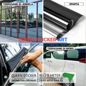 Harga kaca film sparta stiker kaca one way cermin untuk mobil dan gedung   riben hitam 80 | HARGALOKA.COM
