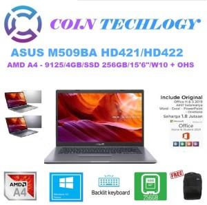 Harga laptop asus m509ba amd a4 9125 4gb 256gb ssd 15 6 34 win10 ohs   hd422 | HARGALOKA.COM