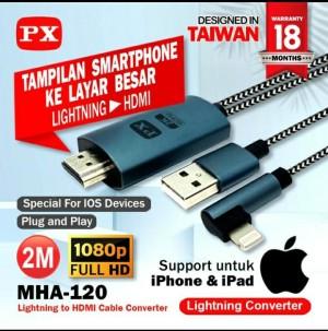 Harga kabel lightning iphone 5 6 ipad 4 mini air pro ke hdmi lcd tv kw | HARGALOKA.COM