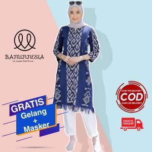 Harga baju tunik tenun wanita etnik troso jepara tunik tenun troso jepara   | HARGALOKA.COM