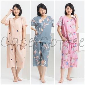 Harga celana pendek piyama wanita setelan baju tidur katun motif cewek   contoh | HARGALOKA.COM