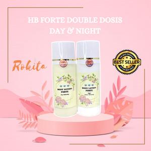 Harga original forte body lotion pemutih badan ampuh handbody hb whitening   siang | HARGALOKA.COM