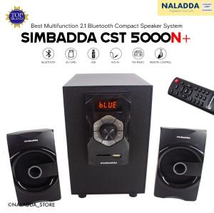 Harga simbadda cst 5000n 2 1 speaker bass aktif bluetooth aux usb sd amp   HARGALOKA.COM
