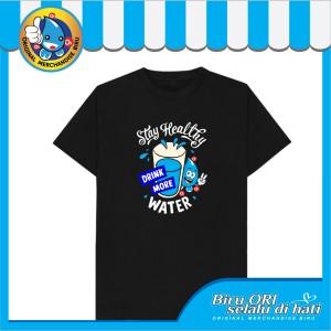 Harga baju kaos atasan t shirt cewek distro fashion wanita stay healthy   | HARGALOKA.COM