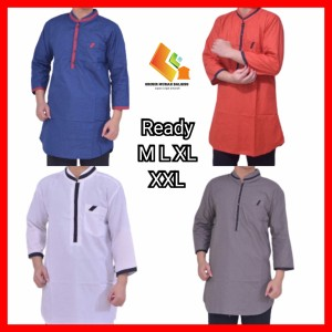 Harga baju koko modern pria pakaian muslim laki kurta pakistan model baru   hitam | HARGALOKA.COM