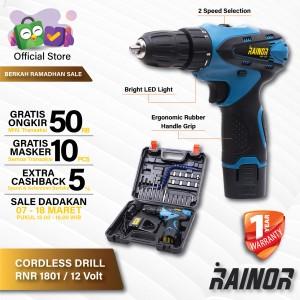 Harga bor baterai cordless drill rnr1801 bor tangan baterai 12v | HARGALOKA.COM