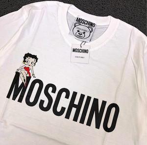 Harga kaos moschino black and white import tag wash label   m   HARGALOKA.COM