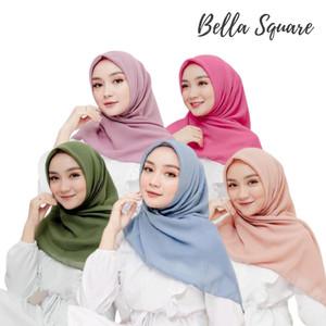 Harga bella square kerudung potton hijab segi empat double hycon   | HARGALOKA.COM