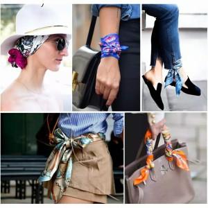 Harga scarf motif elegan ikat rambut leher dasi tas bahan satin berkualitas   1 scarf | HARGALOKA.COM