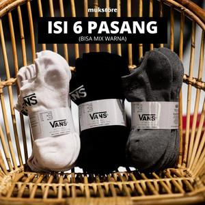 Harga kaos kaki vans pendek   ankle sock vans isi 6 pasang | HARGALOKA.COM