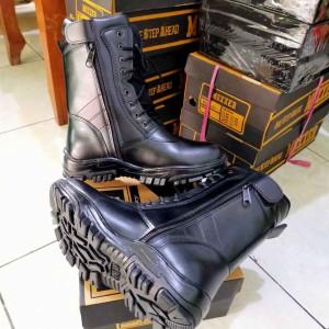 Harga sepatu pdl tni polri hitam doff resleting terbaru   lb01   | HARGALOKA.COM