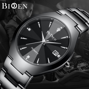 Harga jam tangan pria biden bisnis mewah otomatis date tahan air kuarsa jam     HARGALOKA.COM