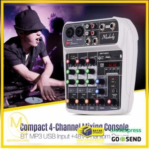 Harga muslady professional compact mixing console mixer 4 channel | HARGALOKA.COM