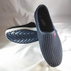 Harga sepatu pria slip on karet original kuat dan tahan lama   biru | HARGALOKA.COM