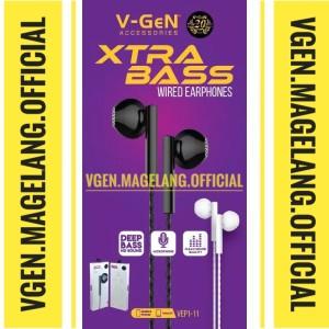 Harga handfree earphone extra bass vgen vep1 11 hd | HARGALOKA.COM