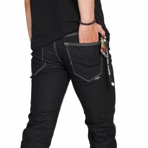 Harga celana jeans pria slim fit original brand fifty one blue black   blue black | HARGALOKA.COM