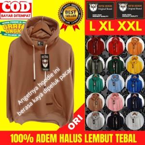Harga sweater hoodie hodie jaket polos pria wanita termurah best seller ori   all warna | HARGALOKA.COM