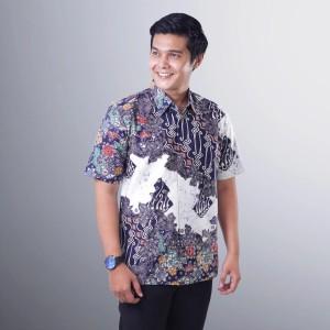 Harga baju batik maza pria lengan pendek cap tulis kombinasi modern premium   | HARGALOKA.COM