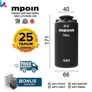 Harga Tangki Air Mpoin Plus 600 Liter Tall Toren Air Tandon Air Katalog.or.id