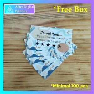 Harga 1 hari jadi thank you card online shop design 5   tanpa   HARGALOKA.COM