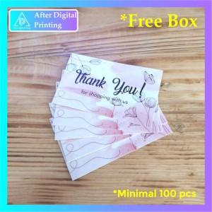 Harga 1 hari jadi thank you card online shop design 6   tanpa   HARGALOKA.COM