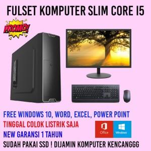 Harga pc komputer i5 fulset slim garansi   ram | HARGALOKA.COM