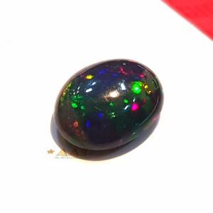 Harga batu kalimaya black opal jarong multi color garansi natural | HARGALOKA.COM
