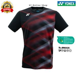 Harga kaos badminton jersey yonex 1706 coc black red 100 original yonex     HARGALOKA.COM