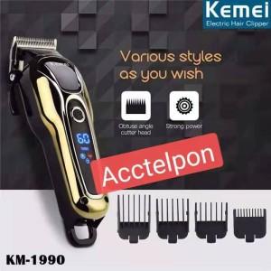 Harga kemei hair clipper km 1990 digital alat potong   HARGALOKA.COM