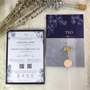 Katalog Undangan Pernikahan Cantik Biru Dongker Katalog.or.id