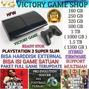 Harga ps3 ps 3 playstation 3 super slim 500gb ofw full game bergaransi   500gb game a tanpa   HARGALOKA.COM