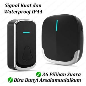 Harga bel rumah wireless door bell waterproof pintu 1 receiver   1 | HARGALOKA.COM