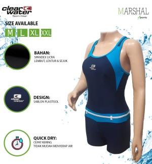 Harga clear water baju renang diving wanita model atlet ls001   m | HARGALOKA.COM