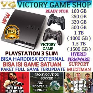 Harga ps3 ps 3 playstation 3 slim 500gb ofw stik full game bisa milih   hdd 160gb tanpa   HARGALOKA.COM